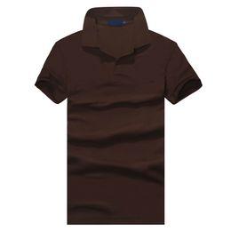 Pantalones cortos de negocios para hombres online-Top clothing Hombres nuevos Camisa de polo Hombres Caballo pequeño Bordado Casual de negocios sólido polo masculino camisa de manga corta polo transpirable