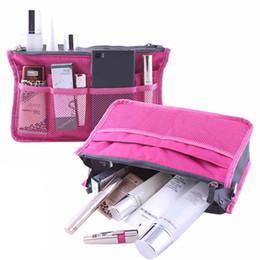 Tragbare Doppelreißverschluss Kosmetik Make-up Tasche Einsatz Veranstalter Frauen Handtasche Multifunktionale Aufbewahrungsbeutel Reisen Schminktasche in Taschen Tasche Hot von Fabrikanten