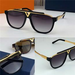 Óculos sol óculos de sol on-line-A mais recente venda de moda popular homens designer de óculos de sol 0937 praça placa de metal combinação quadro de alta qualidade anti-UV400 lente com caixa