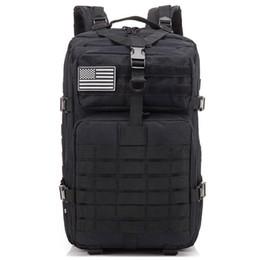 2019 zaino in pelle rosso azzurro bianco ICON 34L Tactical Assault Pack Zaino Army Molle Borsa impermeabile per bug out Zaino piccolo per escursioni all'aperto Campeggio caccia (bl