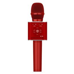 2019 alto-falantes de karaoke TOSING sem fio Bluetooth portátil microfone de mão Karaoke Máquina Speaker Phone compatível, PC, computador de Festa / Igreja / S desconto alto-falantes de karaoke