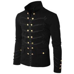 gothic-mantel Rabatt Herren Herbst Steampunk Gothic Rock Style Zipper Outwear Mantel Mantel Tops
