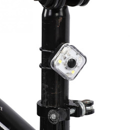 Сигнальная лампа аккумуляторная батарея онлайн-Bicycle Light Bike Lamp 120 Lumen LED Night Cycling Front Headlight Safety Taillight Running Backpack Warning Light with Battery