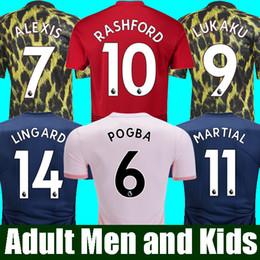 18 19 FC Manchester United Jersey 2019 Man Jersey UTD POGBA LUKAKU RASHFORD  ALEXIS Camisa De Futebol Kit Adulto HOMENS e CRIANÇAS conjuntos Uniforme 8ff0270e4f240