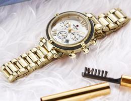 Argentina Nueva moda vintage europea y americana, reloj deportivo para mujer, tres ojos, seis alfileres, calendario, reloj de cuarzo para dama. envío gratis Suministro