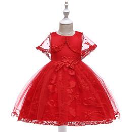 Vestido rosa navidad blanco online-Chicas Pretty Red White Green Pink Boda de Navidad Princesa Vestidos de fiesta Diseño para ocasiones especiales Vestidos largos en línea