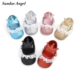 crown for infant Coupons - Sundae Angel Newborn shoes girl Hook&Loop White Mesh Crown Anti-slip Wearproof Breathable Infant Toddler First walkers For 0-18M