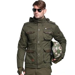 2017 Bomber M65 US combate do exército Tactical Jackets Men Outono Brasão multi bolso da jaqueta Hoodies Windbreakers de