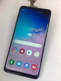 placa de tv analógica Desconto Novo Goophone S10 Plus S10 + 6.4 polegada Quad Core MTK6580 Android 9.0 3G Telefone 1 GB de RAM 8 GB ROM 1280 * 720 HD 8MP Desbloqueado Telefone Inteligente