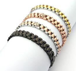 2019 venta al por mayor pulseras de cuero ajustable hebilla De primeras marcas con el logotipo 316 de titanio pulseras de diseño de acero R brazalete para hombre y mujeres parejas amantes de la boda joyería de lujo de regalo SM0318