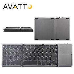 Avatto B033 Katlanır Mini Klavye Bluetooth Katlanabilir Kablosuz Tuş Takımı Ile Windows Için Touchpad, android, ios Tablet Ipad Telefon T190627 nereden