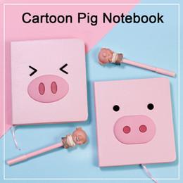 Сердце свиньи онлайн-Cartoon Pig Notebook, Pink Girl Heart, Прекрасные канцелярские товары, Ручка для творчества, Подарки для детей, Подарки для студентов,