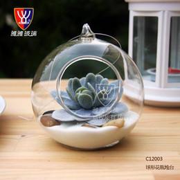10CM Grande terrario Borosilicato Vaso di fiori in vetro appeso Vasi da tavolo rotondi Decorazioni per la casa Decorazione di nozze Trasparente da
