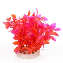 Pesci ornamentali online-Fish Tank Aquarium Ornament Plants Simulazione artificiale Ornamentale Decorare le piante acquatiche per acquario Fish Tank