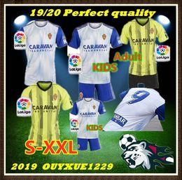 Ad-fußball online-kids Adult 19 20 Real Zaragoza Trikots AMBAR ad home away Fußball 2019 2020 alvaro Vazque Soro # 20 Gual # 16 Eguaras Javi