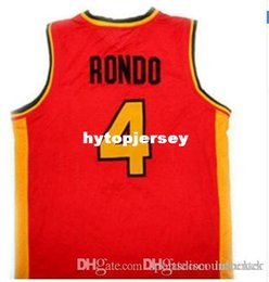 663e4b5accc1 RAJON RONDO  4 OAK HILL HIGH SCHOOL BASKETBALL JERSEYS Embroidery Stitched  Personalized Custom any size and name Jersey NCAA
