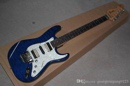elektrischer gitarrenkörper Rabatt Hochwertige St Custom Body Floyd Rose Tremolo E-Gitarre White Pickguard E-Gitarre