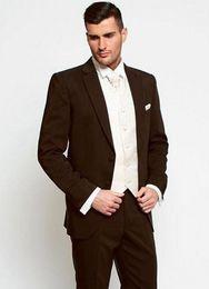 Herrenbekleidung & Zubehör jacke + Pants + Tie + Vest 2017 Bräutigam Smoking Schokolade Zweireiher Hochzeit Abendessen Bräutigam Männer Anzüge Best Man Bräutigam Männer Anzug