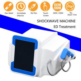 Máquina para el pene online-Equipo de terapia de ondas de choque Impulso Estimulador muscular Alivio del dolor Equipo de terapia de ondas de choque tratamiento de pene equipado con 5 balas