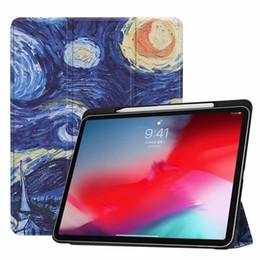 búho casos para ipad Rebajas Delgado colorido de la PU del cuero Wake Hasta elegante del soporte del tirón del caso para el iPad Pro 11 2018 2018 12,9 iPad Pro