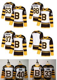 2019 pullover nhl vuoto 2019 Winter Classic NHL Boston Bruins Jersey David Pastrnak Patrice Brad Marchand Zdeno Chara Tuukka Rask Blank Hockey cucito bianco pullover nhl vuoto economici