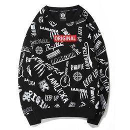 Argentina Para hombre diseñador blanco sudadera con capucha sudadera jersey impreso cuello redondo manga larga marea masculina floja ocasional camiseta gran tamaño suéter Suministro