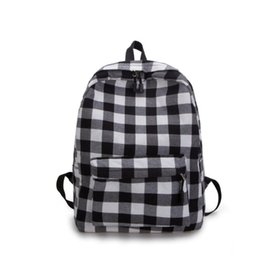 canvas backpack wholesale for men Promo Codes - JIARUO Plaid Women Men canvas Backpack Middle School bag back pack for Teenagers Book Student bag Daily pack