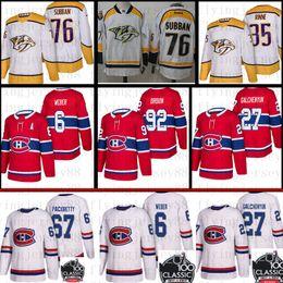 Montreal Canadiens 6 Shea Weber 31 Carey Price 67 Max Pacioretty 27 Alex Galchenyuk Jersey 76 P. K. Subban 35 Pekka Rinne Hockey von Fabrikanten