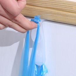 Plastikbekleidung online-Kunststoff über der Tür Doppelhaken Küchenschrank Kleiderbügel Veranstalter Halter