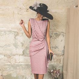Vestidos ajustados al estilo de la calle online-Ropa de mujer Nuevo Verano Moda Casual Dot Print Designer Dress Explosivo Sexy Buttock Tight Point Street Style Vestidos