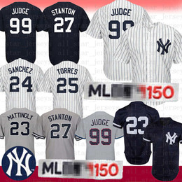 b1b616221793 99 Aaron Judge Jersey de béisbol de Nueva York Yanquis 25 Torres 27  Giancarlo Stanton 24 Gary Sanchez 23 Don Mattingly 3 Babe Ruth 7 Mickey  Mantle