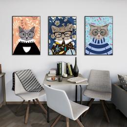 2019 cat eyes fotos Moderno lienzo de pintura sin marco animal ojos gato impresión arte de la pared cartel imagen sala de estar decoración del hogar rebajas cat eyes fotos