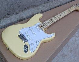 guitare électrique oem st Promotion Guitare électrique ST crème, boutique sur mesure acceptée OEM guitarra