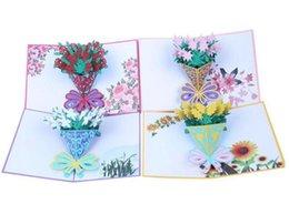 Tarjetas de felicitación tridimensionales online-Tarjeta de felicitación 3D ramo de rosas con flores tarjeta de felicitación tridimensional hecha a mano tarjeta de felicitación
