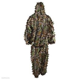 2019 vêtements en tissu multifonction Durable Woodland Kit Cape Champ Feuille 3D Camouflage Camo Jungle Sweat Camouflage Sweat-shirt Chapeau