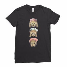 T-shirts emoji gesichter online-Lustiger Affe Emoji drei 3 kluges Hipster-Gesichts-Damen-Frauen-T-Shirt T-Stück
