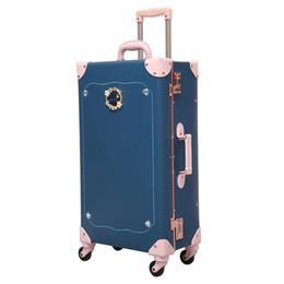 Девушки чемодан багажа онлайн-2019 камера прокатки hardside PU девочек чемодан спиннер чемодан с колесами 24 дюймовый багажник дети дети