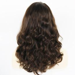 Haut en soie ondulée en Ligne-24 pouces perruques kasher ondulées cheveux russes brut cap Shevy perruque juive avec perruque soie supérieure