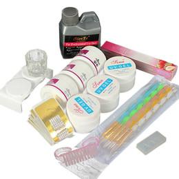 2019 формы для ногтей Акриловая Nail Art Set жидкополимерный UV Gel Советы Формы Gel Kit Маникюр Инструмент для ногтей дешево формы для ногтей