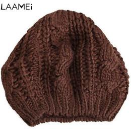 Laamei Female Hat Dress Accessories Woman Hat Warm Winter Woman Beret Hats  Fashion Weaving Beanie Hats Knit Comfortable 8eed88fef03b