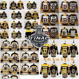 Argentina 2019 Stanley Cup Hombres Niños Mujeres Boston Bruins 4 ORR # 33 CHAPA # 40 RASK # 46 KREJCI 47 KRUG 73 MCAVOY 88 PASTRNAK Blanco Negro Jerséis de hielo supplier kids bruins jersey Suministro