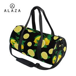 8af7842c8e ALAZA Cute 3D Fruits Printing Canvas Travel Bags Sport Outdoor Women Large  Storage Tote Handbag Shoulder Bag For Men 2019