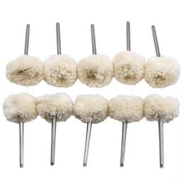 Ensemble de 10 rouleaux de 10 rouleaux de laine de polissage en laine et coton, accessoire pour outil rotatif Dremel ? partir de fabricateur