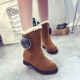 939362c3cd84 JF2018 autumn and winter new half-boots inside the high-heeled ankle boots