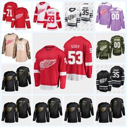 Larkin джерси онлайн-53 Moritz Сейдер Detroit Red Wings Хоккей Джерси 35 Джимми Ховард 71 Дилан Ларкин 39 Энтони Манта 72 Andreas Athanasiou 59 Tyler Bertuzzi