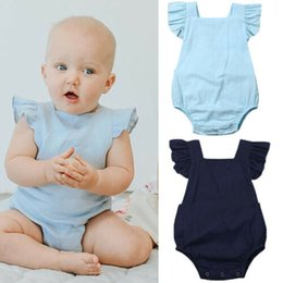 infant baby girl clothes sale Promo Codes - 2019 Cute Romper Baby Girls Boys Clothes Pure Solid Jumpsuit Romper 0-24M Infant Toddler Newborn Outfits Set Hot Sale Sunsuits