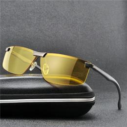 933ce7dbe7 MINCL / Gafas de sol polarizadas Hombres Diseñador de la marca Sunglass  Hombres Lente amarilla Visión nocturna Conducción Gafas de sol Gafas UV FML  noche de ...