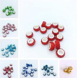 celulares artesanais Desconto Acessórios de moda multicolor broca de água Bracelet peças DIY grande buraco Bead Bracelet peças pulseiras colar acessórios T6I6021