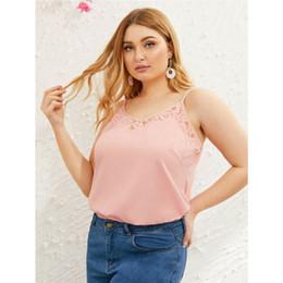 verão gordo da mulher camiseta Desconto Mulheres verão floral lace costura sling colete regata senhoras losse casual camisola camiseta cami plus size xl-4xl para mulheres gordas