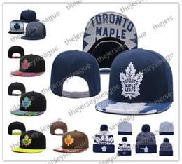 Canada Bonnets en maille de hockey sur glace des Maple Leafs de Toronto Chapeau ajustable à broder Bonnets brodés Snapback Casquettes noires bleues, blanches, grises Offre